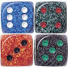 "Speckled Dice - 5/8"" - 16mm - Set of 10"