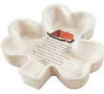 "Shamrock Candy Dish - Irish Blessing - 8"" X 7 3/4"""
