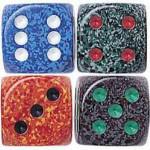 "Speckled Dice - 5/8"" - 16mm - Set of 10"