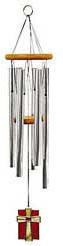 Amazing Grace Chimes with Glass Chimes - 19 inches