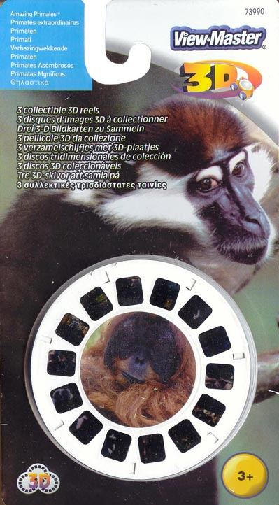 3D Reel Cards - Amazing Primates - Set of Three - Additional View