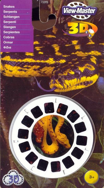 3D Reel Cards - Snakes - Set of Three - Additional View