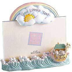 "Gifts From Heaven: God Loves You Photo Holder - 6.5"" X 6"" X 2"""