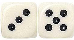 "Ivory Dice - 5/8"" - 16mm - Set of 50"