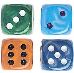 "Silk Dice - 5/8"" - 16mm - Set of 10"