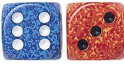 "Speckled Dice - 7/8"" - 22mm - Set of 10"