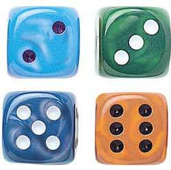 "Silk Dice - 7/8"" - 22mm - Set of 50"
