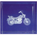 Harley Davidson Glass Motif