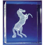 Rearing Horse Glass Motif
