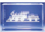 Locomotive Glass Motif