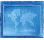 World Map Glass Motif