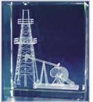 Oil Tower Glass Motif