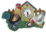 Green Rooster Wall Clock