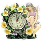 Purple Fairy Clock