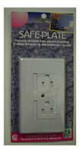 Safe Electrical Outlet Plate - White