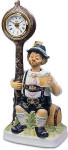 Willie The Yodeler Clockpost Clock - Melody In Motion Figurine
