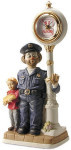 Clockpost Policeman Clock - Melody In Motion Figurine