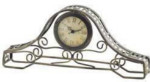 Tambour Clock in Metal