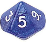 Ten Sided Dice Assortment - 01-10 - Set of 10