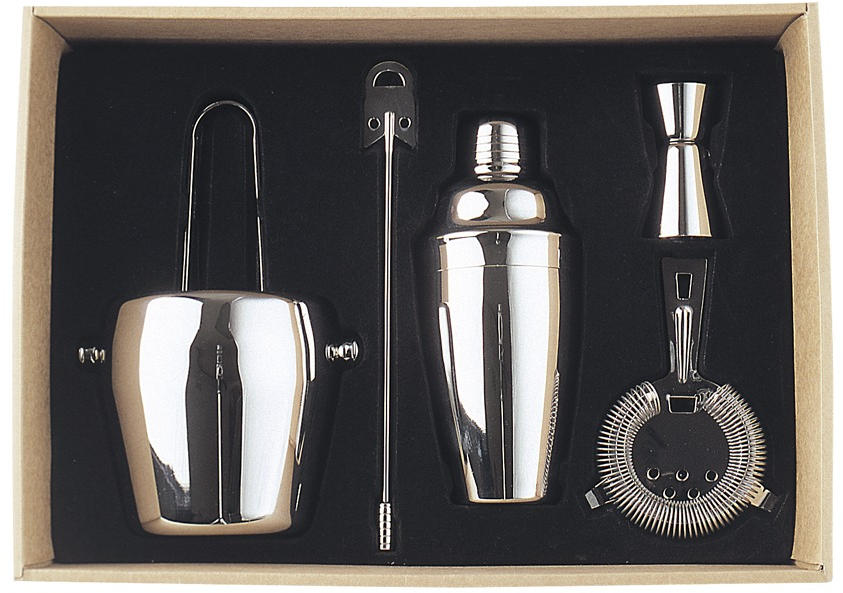 The Deluxe Bar Cocktail Accessory Set