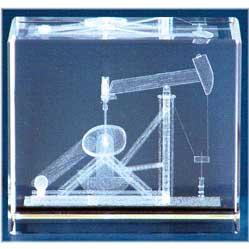 Pump Jack Glass Motif