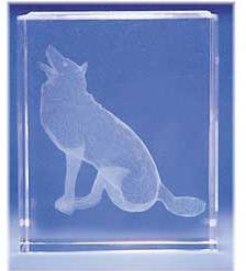 Howling Wolf Glass Motif