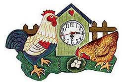 Yellow Rooster Wall Clock