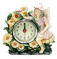 Pink Fairy Clock