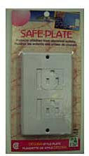 Safe Electrical Outlet Plate - Decora - White