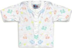6 Months - Vest Undershirt - Snap Front - Printed Design