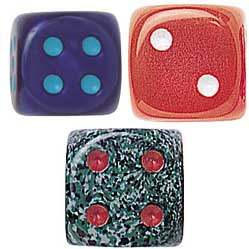 Tutti Frutti, Speckle and Silk Dice Assortment - Set of 10