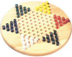 Natural Wood Chinese Checkers