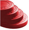 Plastic Chips - Solid Red - 100 Chips