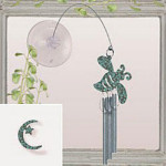 Jacob's Window Charm Chimes - Crescent Moon