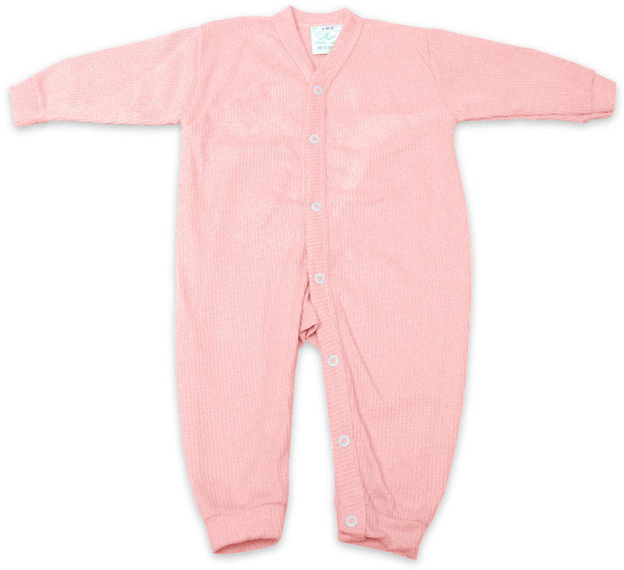 Thermal Underwear - Pink - 6 months
