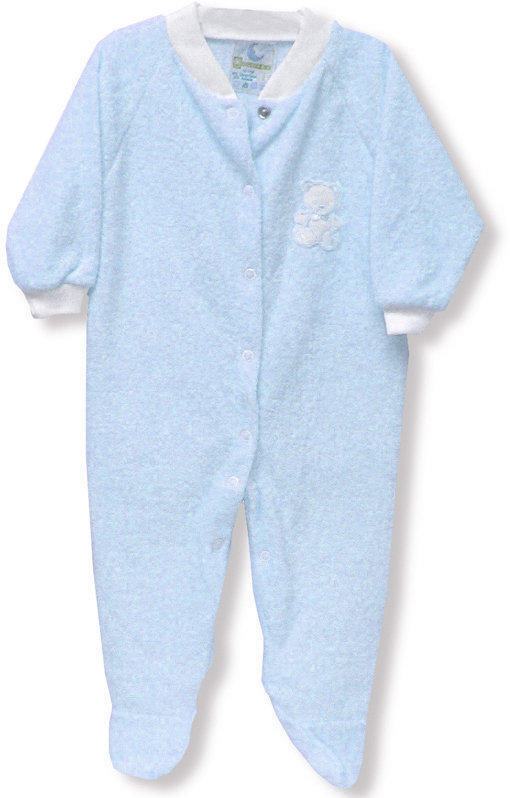 Blue Terry Sleeper - Size 2