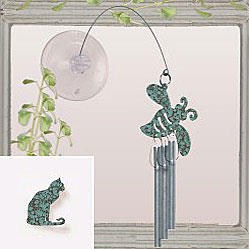 Jacob's Window Charm Chimes - Cat