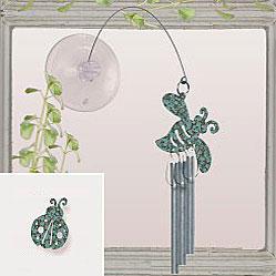 Jacob's Window Charm Chimes - Ladybug