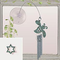 Jacob's Window Charm Chimes - Star of David