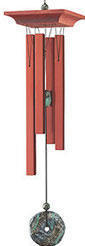 Woodstock Turquoise Chimes - 21 inches