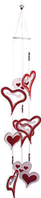 Woodstock Chimes of South Africa - Hearts - 38 inches