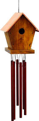 Woodstock Baby Birdhouse Chimes - 17 inches