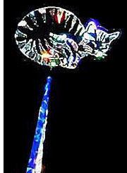 Lying Cat Wand - Blue
