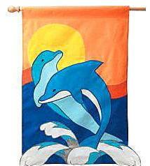 Appliqué Flag - Dolphin Duo