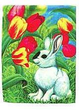 Mini Sublimation Flag - Tulip Bunny