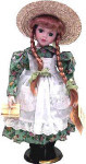Anne of Green Gables - Anne Shirley with Book - Porcelain Doll - 12""