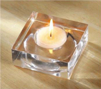 Square Tealight Holder - Clear