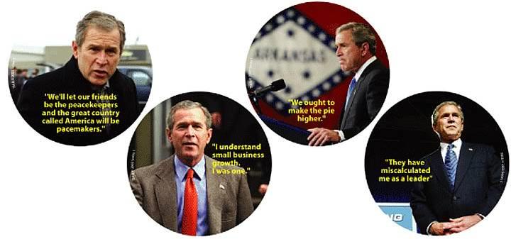 George W. Bush Coasterisms - Series 1 - Set of 4