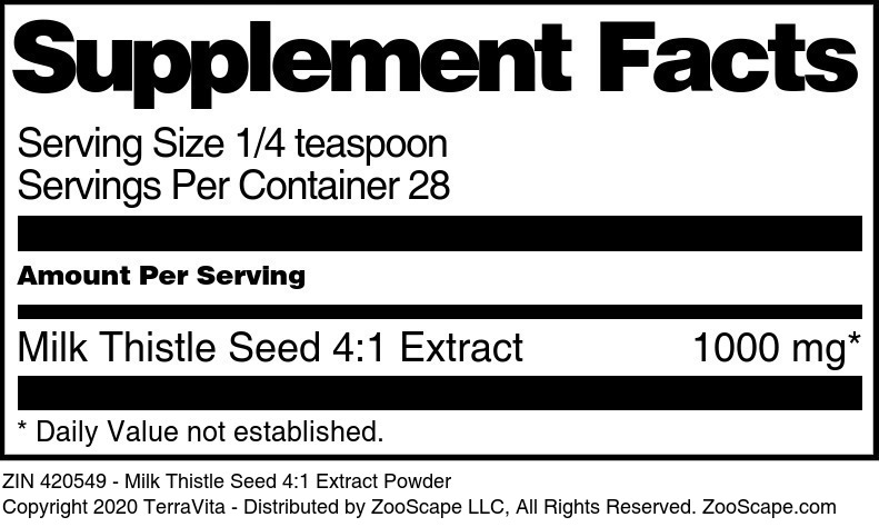 Milk Thistle Seed 4:1 Extract
