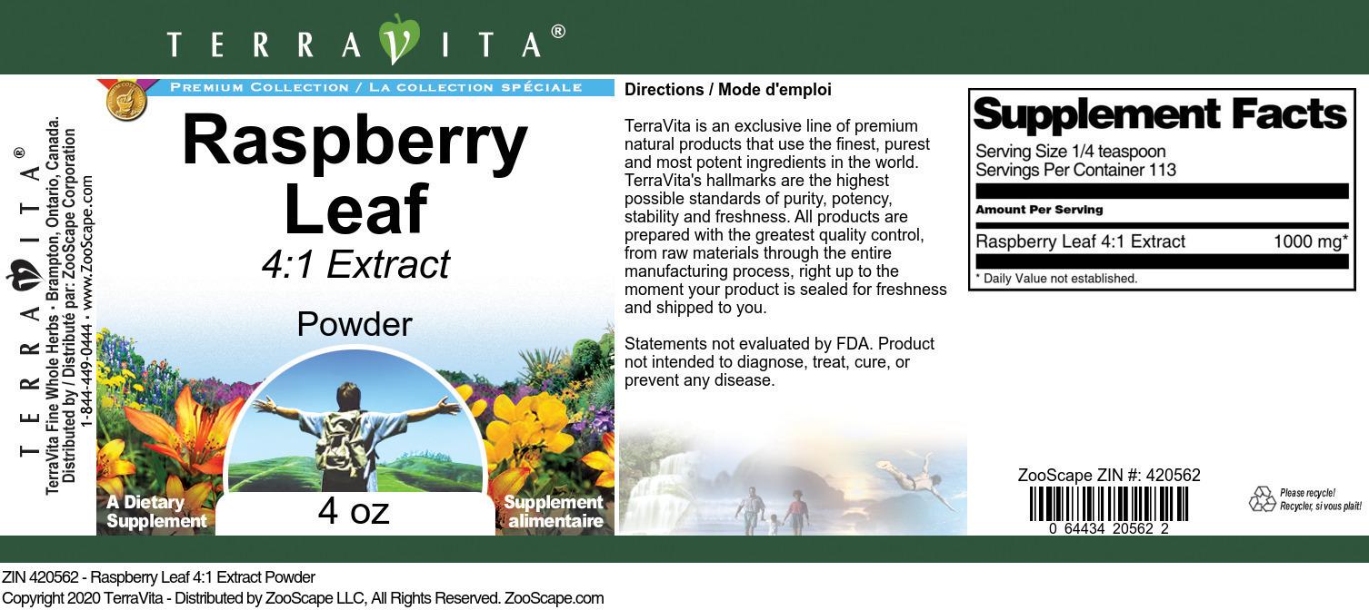 Raspberry Leaf 4:1 Extract Powder
